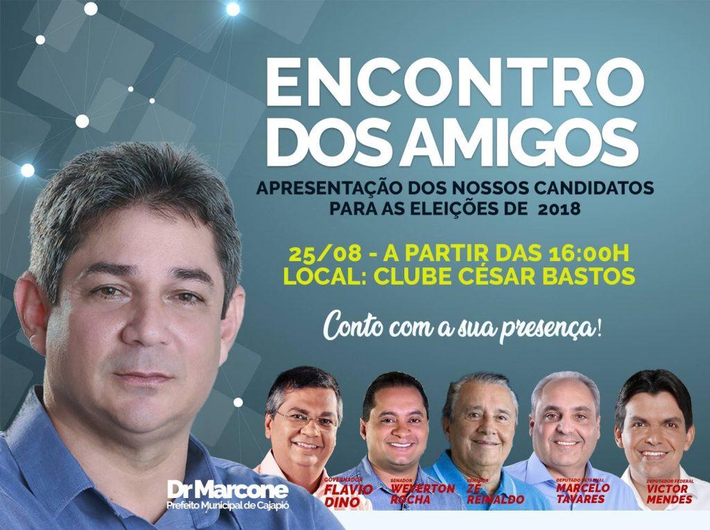 Dr. Marcone apresenta candidatos a população de Cajapió neste  sábado (25)