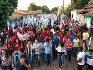 Turilândia – Prefeito Alberto Magno, Junior Marreca Filho e Toca Serra arrastam multidão em ato político