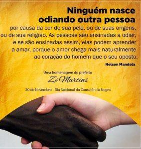 Bequimão – Homenagem do prefeito Zé Martins ao Dia da Consciência Negra