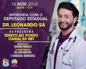 Deputado Leonardo Sá participa do Programa Direto ao Ponto na Nova Difusora Pinheiro nesta sexta