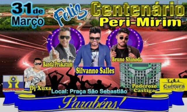 Cidade de  Peri Mirim comemora centenário no próximo dia 31