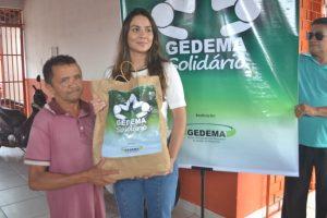 Gedema doa cestas básicas a moradores de municípios atingidos pelas cheia